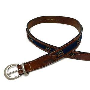 Vintage Christian Dior Leather Belt Monogram